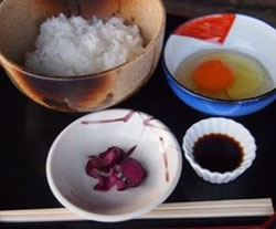 加古川産オクノのたまごを使用したたまごかけごはん イメージ