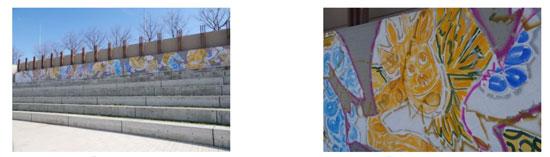 (左)川田知志 「西宮8園地」 2016年 (右)川田知志 「西宮8園地」 2016年(部分)