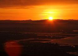 六甲山からの初日の出