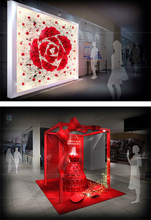 (上)Red Rose Wall (下)Red Rose Dress