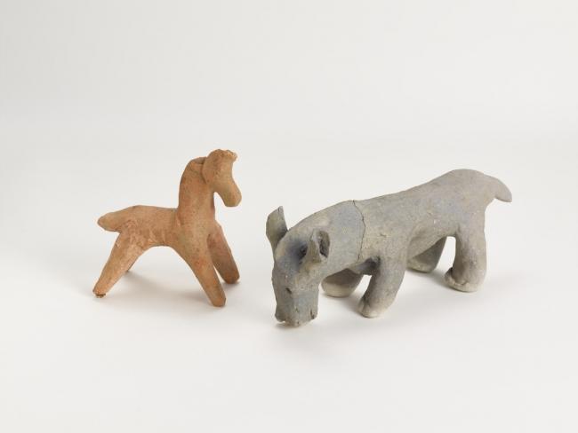 土馬 奈良時代・8世紀 左:九州国立博物館 右:九州歴史資料館