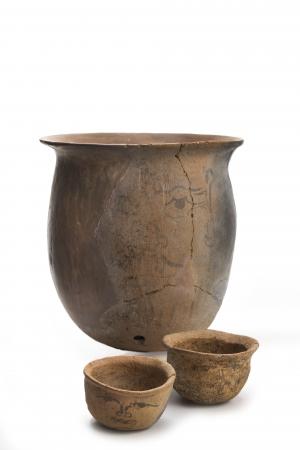 人面墨書土器 奈良時代・8世紀 大野城市教育委員会