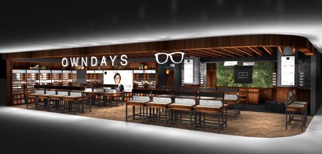 [OWNDAYS|オンデーズのインドネシア進出1号展は220平米超で、同国では最大級のメガネ専門店となる予定*イメージ]