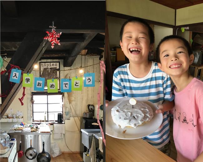 新1年生の入学式や誕生日などアットホームな雰囲気でお祝いしてきました。
