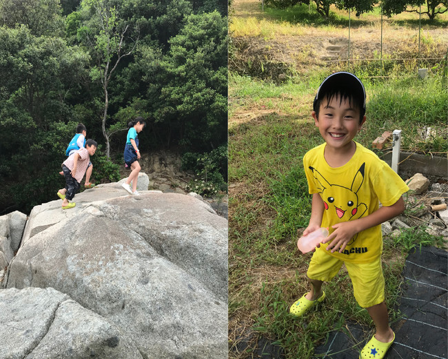 海、山、離島と自然に恵まれた場所で、子ども達は好奇心を全開にしています。