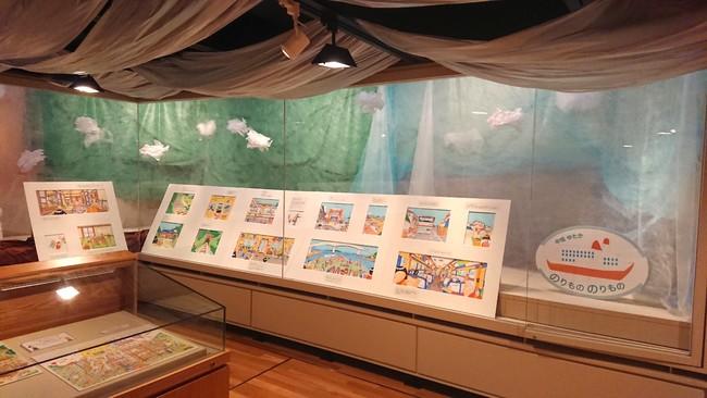「ニコニコ絵本原画展」展示の様子