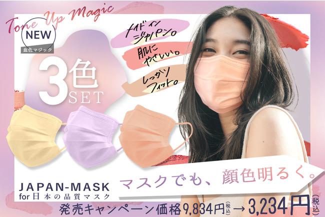 色付き 不織布 マスク