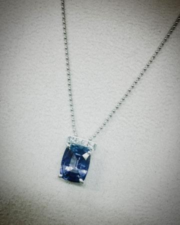 タンザナイト、ダイヤ、K18WG