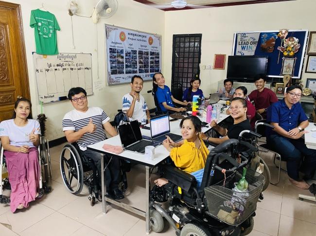 プノンペンにある障がい者支援NGOのオフィス