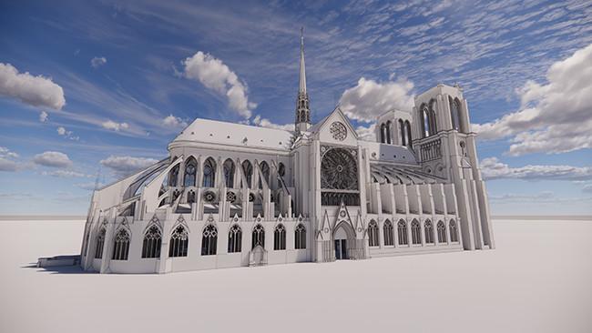 ノートルダム大聖堂 3D モデル