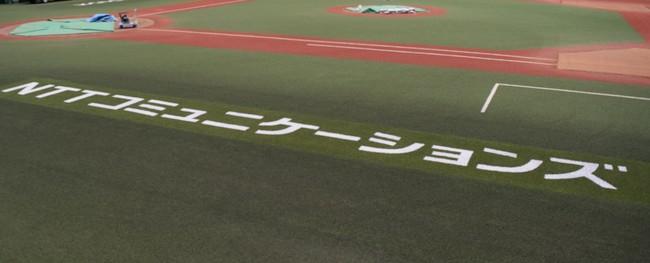 NTTコミュニケーションズの芝生広告