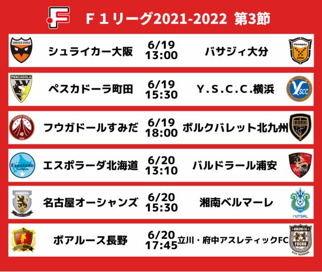 Fリーグ2021-2022 ディビジョン1 第3節