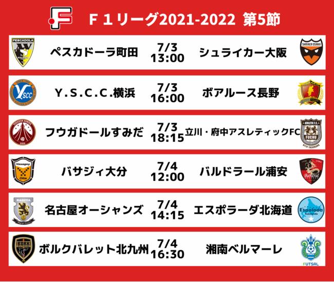 Fリーグ2021-2022 ディビジョン1 第5節