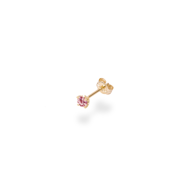 0.1CT SOLITAIRE PINK DIAMOND STUDS 50,000円~