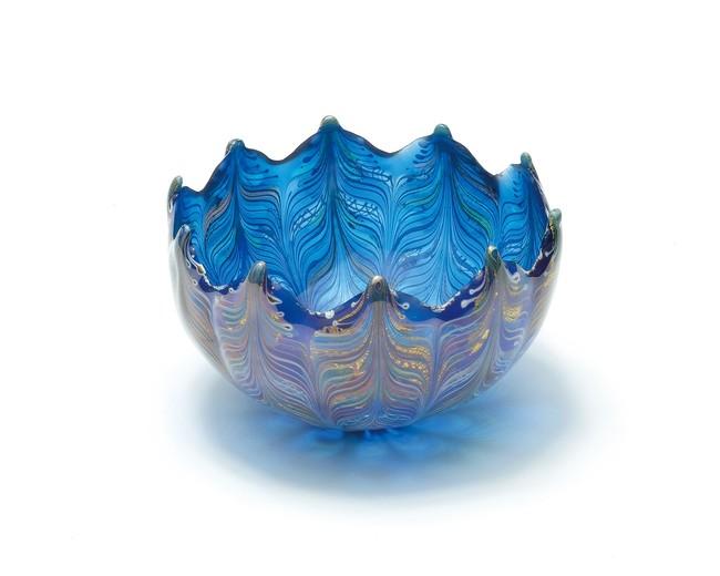 銅還元色華碗 H6.3×W10cm