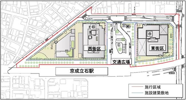 再開発事業 街区・施設配置図
