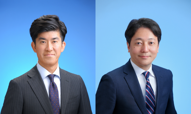左:代表取締役社長 野村逸紀 右:ソリューション営業部 部長 鈴木伸太郎