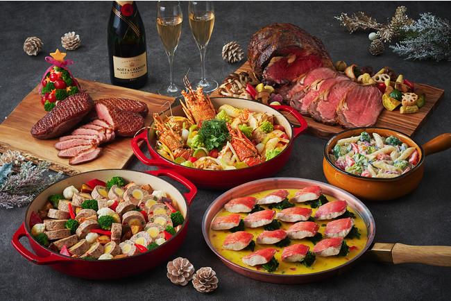 ロブスターを使ったブイヤベース、鴨肉のロースト、ローストビーフなどフェスティシーズンならではメニューが勢ぞろい