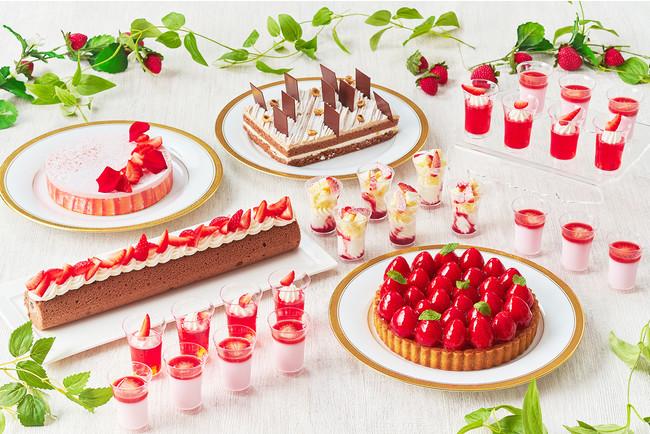 フレッシュな苺をたっぷり使用した「苺のタルト」や一口サイズの「苺のショートケーキ」などバラエティー豊富なラインアップ