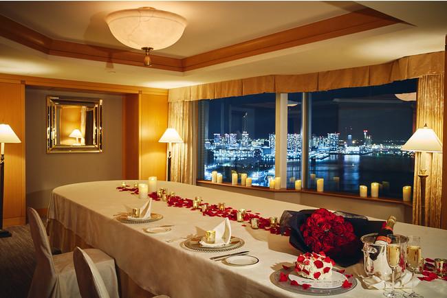 23階からの眺望を愉しみながら個室で貸切ディナー