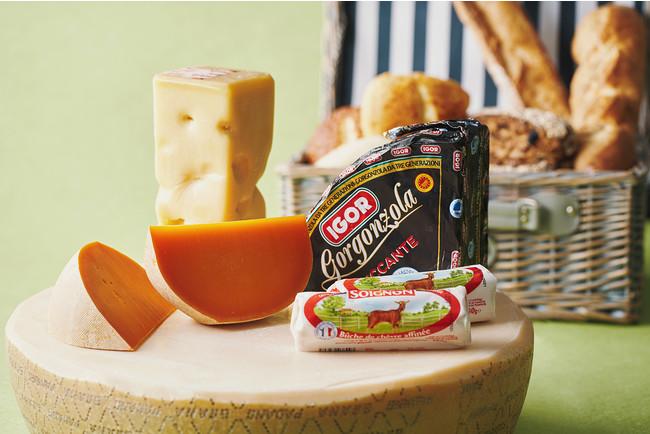 マイルドなチーズから青かびチーズまで幅広いラインナップ