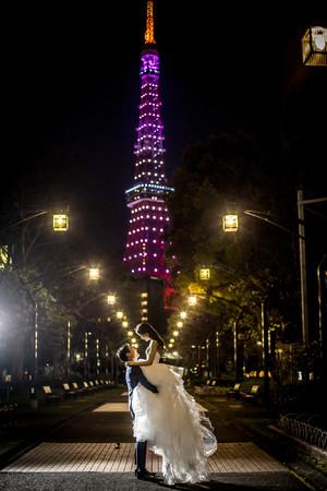 東京タワー付近でのシーン