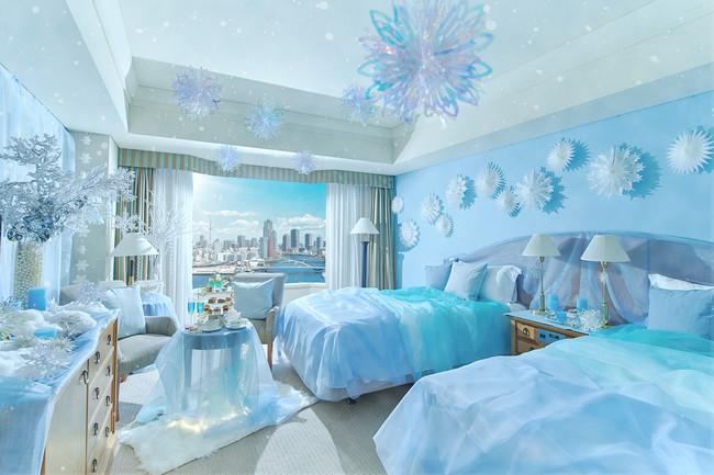 <IN THE FROZEN>プリンセスルームは 雪の結晶がきらめく氷の世界を表現(デイユースプランイメージ)