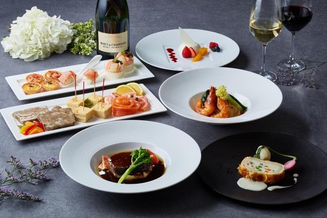 世界コンクールで入賞経験を持つ総料理長 中宇祢満也によるフレンチコース