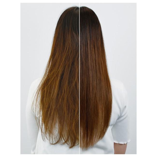 キューティクルを保護し、毛先までまとまりのある髪へ