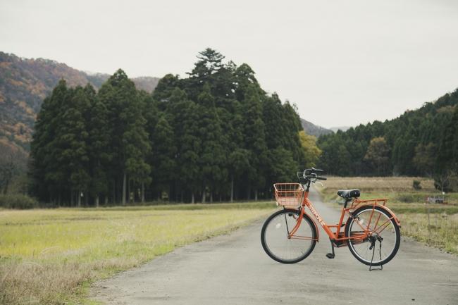松永の集落を自転車で散策