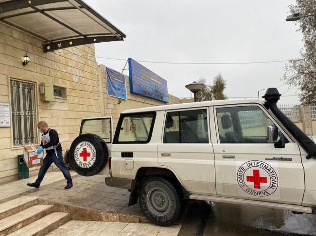 イラクの収容施設に感染予防グッズを提供 (C)ICRC