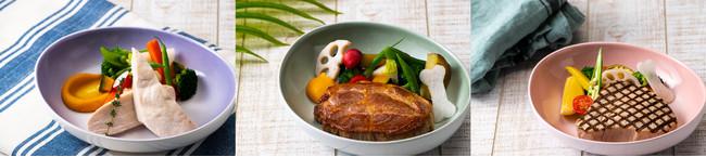 やんばるチキン胸肉のロースト    あぐー豚ロース肉のロースト     マグロのロースト 季節の沖縄野菜