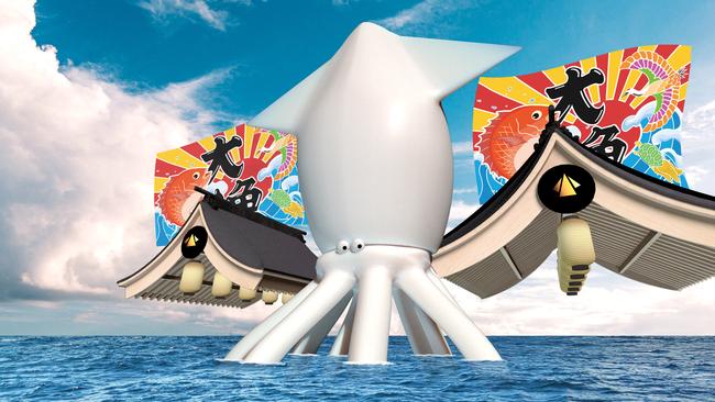 ヴァーチャルSAGAタワーオリジナルキャラクター「イカくん」がVR空間内で接客販売