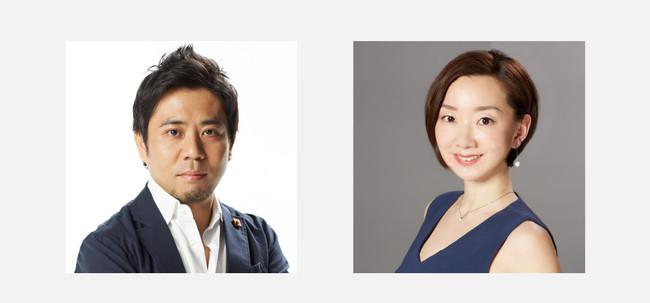 BITOKA発酵原液化粧水開発者 長谷川 晋(左)、BITOKAブランド創立者 下村 祐貴子(右)