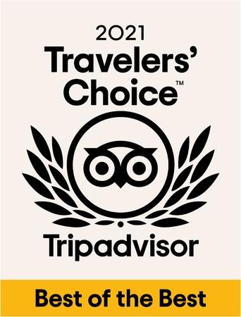 トリップアドバイザー 2021 トラベラーズチョ イス ベスト・オブ・ザ・ベスト ホテル