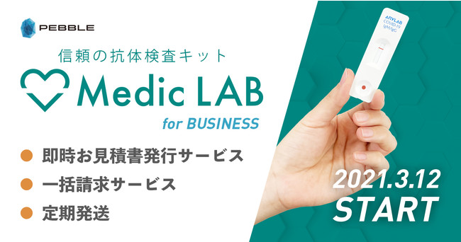 【Medic LAB for Business】 抗体検査キット 法人様向けサービス拡大