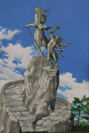 成田亨「鬼モニュメント(原画)」(日本の鬼の交流博物館所蔵)
