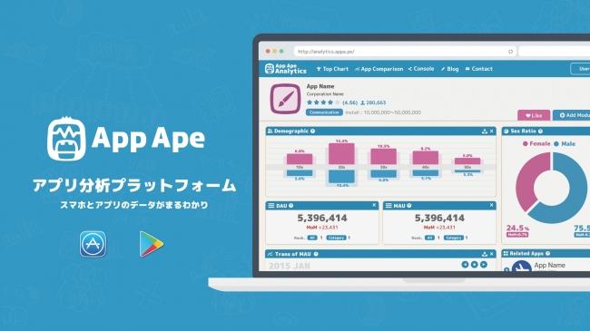 1万人のスマホアプリ利用状況が分かるAppApe
