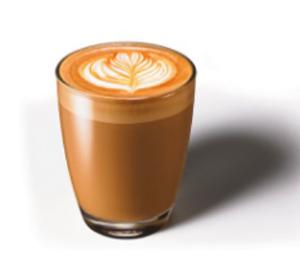 「コルタード」 エスプレッソに滑らかなテクスチャーミルクを少し加えたドリンク。濃厚なエスプレッソに滑らかなテクスチャーミルクを少し加えた、ショートサイズのリッチなコーヒー。
