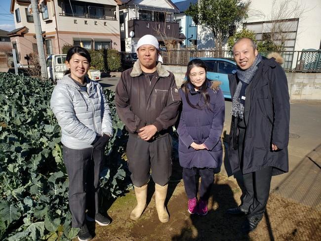 「東京野菜」の生産者さんと当社メンバー