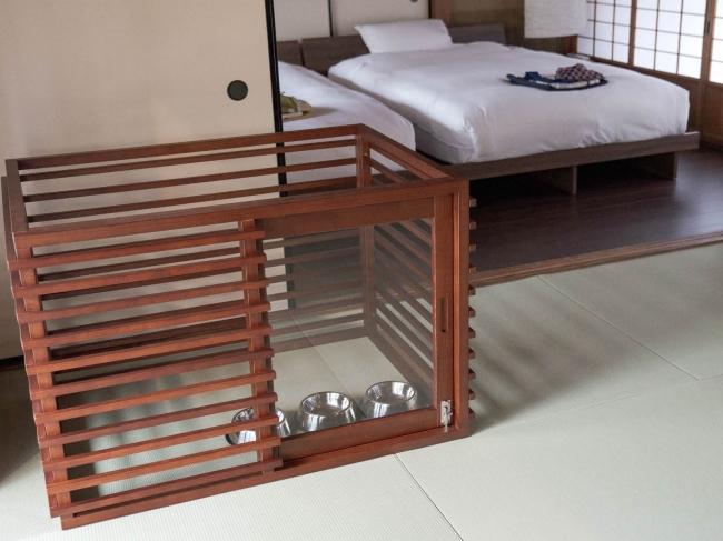 「篠山城下町ホテルNIPPONIA」ではペットと一緒に泊まれる客室もある。