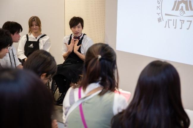 障害の社会モデルについて語る寺田ユースケ氏