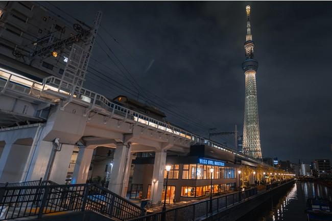 東京ミズマチイーストエリアに位置するホステル