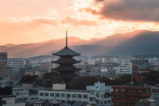 建物からの東寺