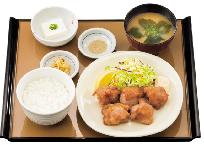 から揚げ定食 新価格 690円(税込)