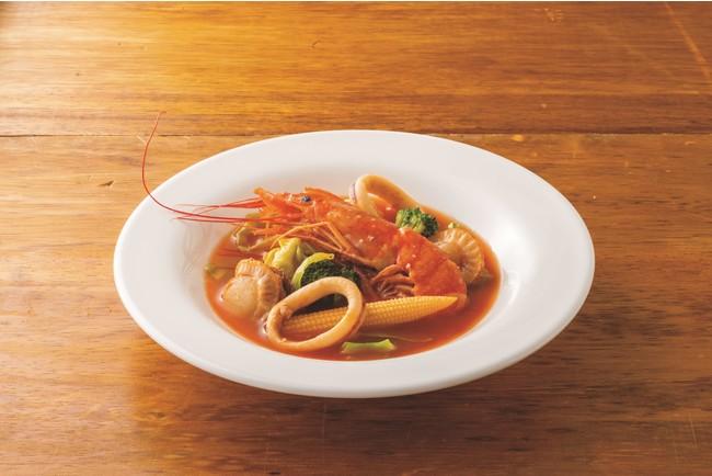 シーフードトマト鍋(調理例)