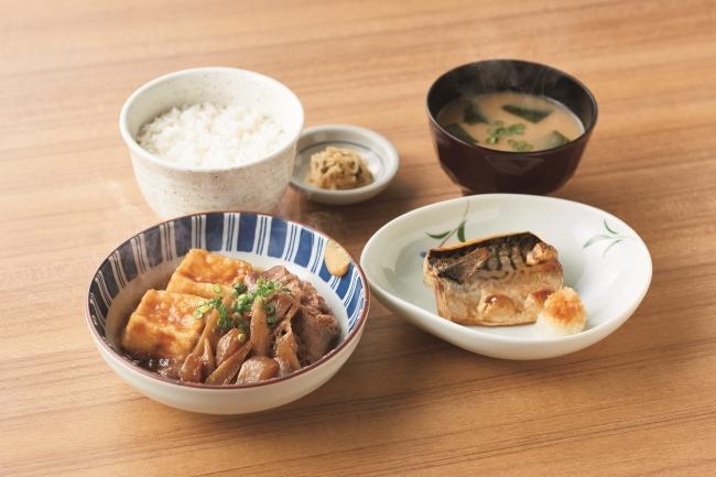 『肉豆腐と焼魚の定食』860円(税込)