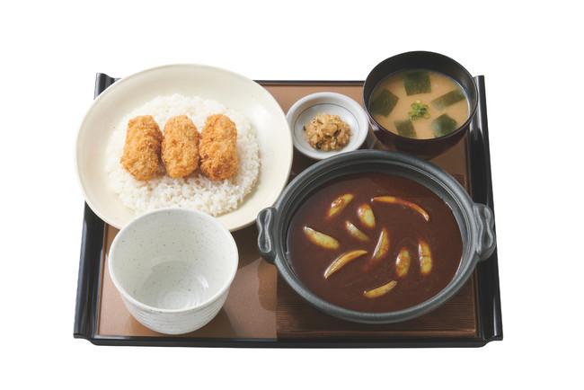 かきフライカレー定食 890円(税込)