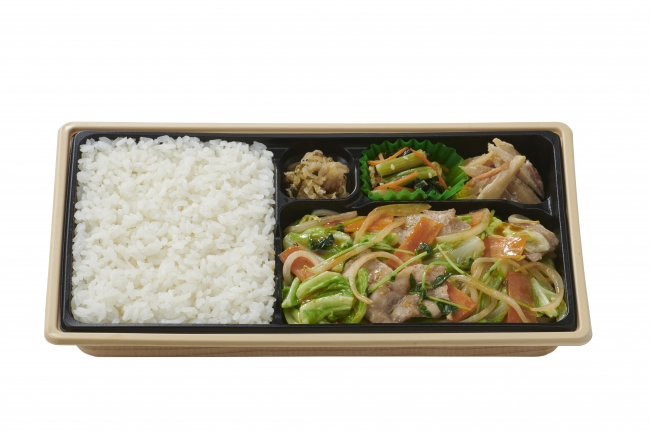 肉野菜炒め弁当660円(税込)