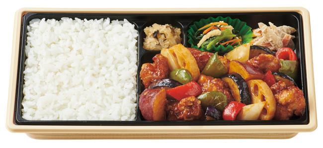 ~1/3日分の野菜が摂れる~ 彩野菜と鶏の黒酢あん弁当 760円(税込)